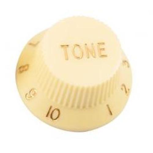 Strat & J-Bass Style Tone Knob w/ Fine Splines-Cream