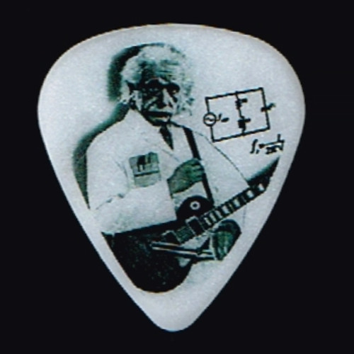 Guitar Electronics Einstein Logo Guitar Pick-Heavy Gauge 1.0mm