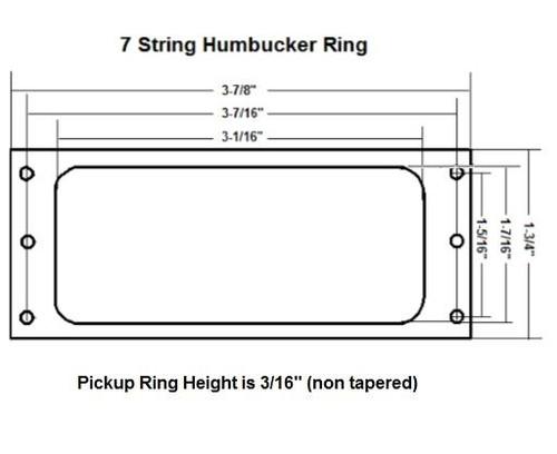 7-String Humbucker Ring  dimensions