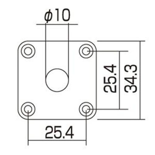 Square Metal Jack Plate Dimensions