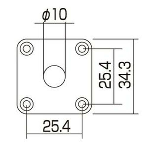 Gibson Style Plastic Jack Plate Dimensions