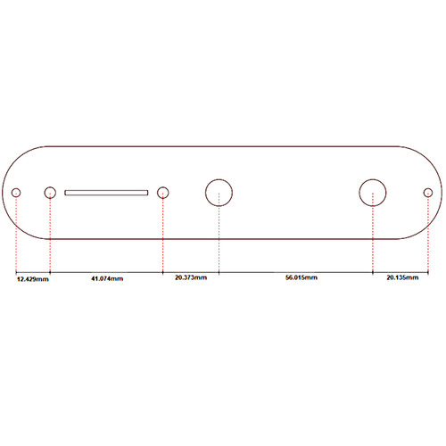 Tele Style Control Plate Dimensions