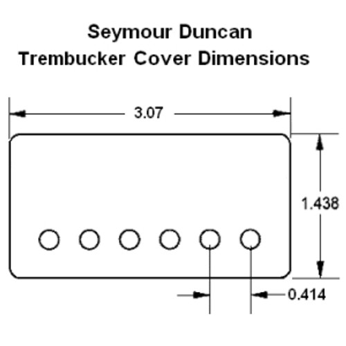 Seymour Duncan Metal Trembucker Cover-Nickel
