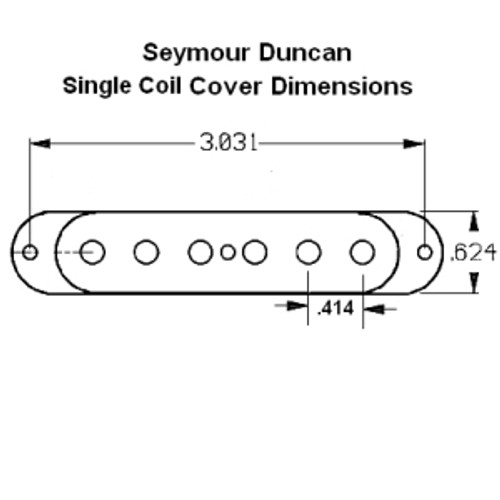 Seymour Duncan Single Coil Pickup Cover Dimensions