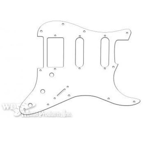Strat Hum/Single/Single Pickguard-3Ply White