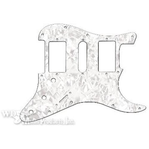Strat Hum/Single/Hum Pickguard-3Ply White Pearl