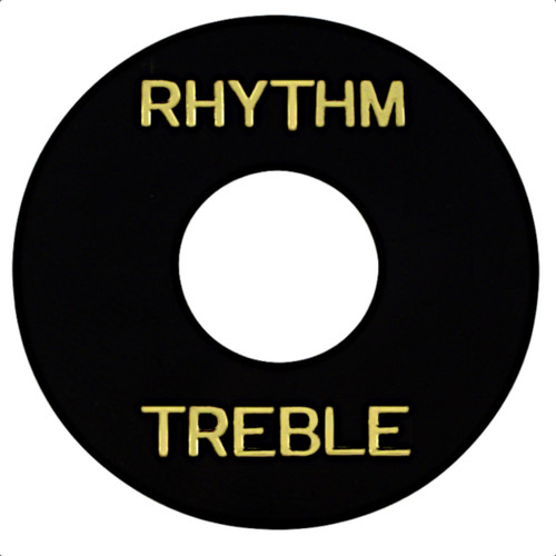 Rhythm/Treble Pickup Selector Switch Ring-Black
