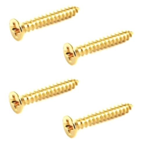 Humbucker Ring Mounting Screws/Short-Gold