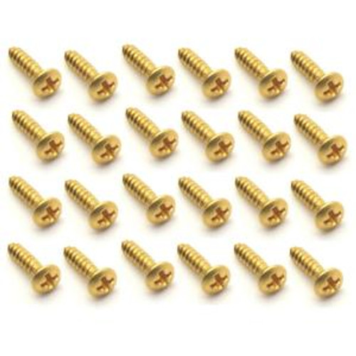 Pick Guard & Cover Plate Screws-Large/Gold