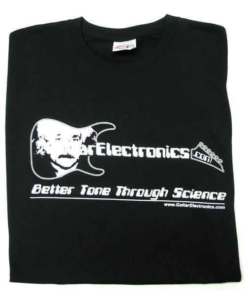 Guitar Electronics Einstein Logo T-Shirt FRONT
