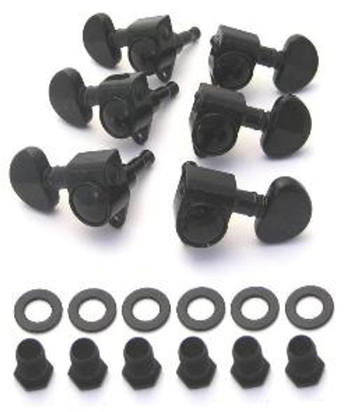 Grover Rotomatic 3x3 Guitar Tuning Keys-Black