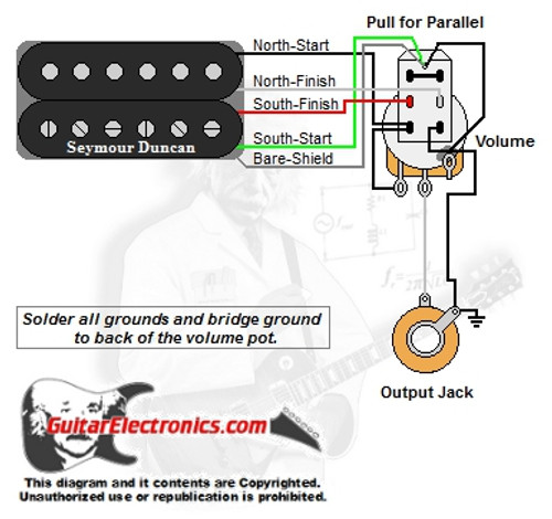 Awesome 1 Humbucker 1 Volume Series Parallel Wiring Cloud Nuvitbieswglorg