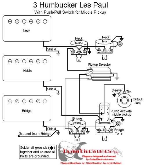 Three Pickup Les Paul Wiring Diagram Wiring Diagram Centre