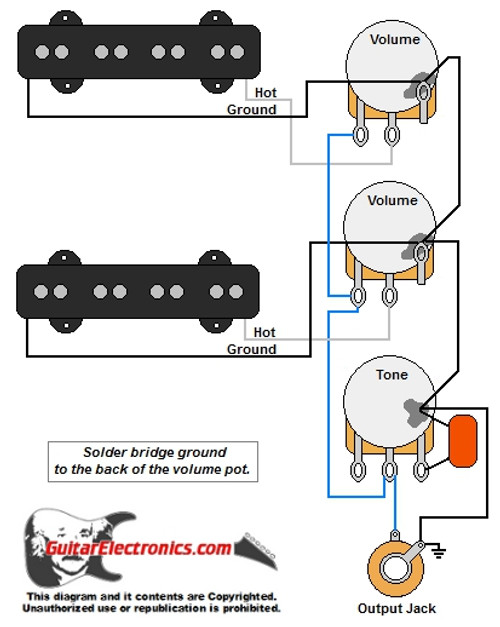 guitar wiring diagrams 2 single coil pickups Bass Guitar Pickup Wiring Diagram