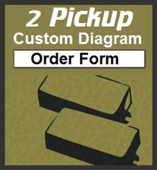 custom guitar wiring diagram two pickups