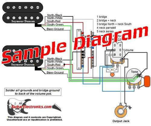 2 Pickup Sample Custom Diagram- 2 Humbuckers