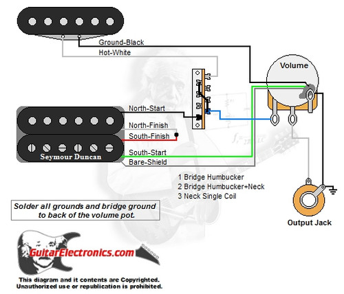 Guitar Wiring Diagrams | 1 Humbucker+1 Single Coil on humbucker strat schematics, humbucker wiring options, humbucker wiring colors, humbucker wiring 2 tone 1 volume, 2 humbucker wiring diagrams, humbucker wiring no green, guitar push pull pots diagrams, humbucker wiring-diagram af55 art, humbucker picker, steel guitar volume tone control diagrams, humbucker wiring-diagram wires attached to 4, vintage mini humbucker wiring diagrams, humbucker wiring diagram schematic, humbucker wiring-diagram 400 art, humbucker pickups, humbucker wiring-diagram dean,