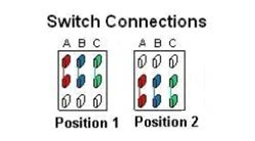 2-Way 3-Pole On/On Mini Toggle Switch Connections