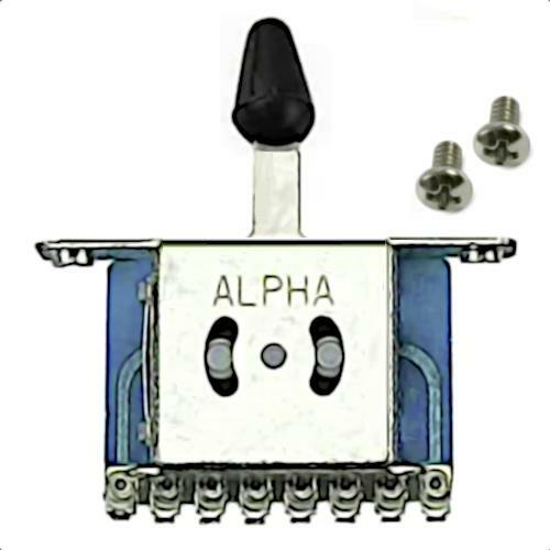 5-Way Compact Strat Style Lever Switch with mounting screws