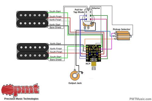 2 Humbuckers w/ 1 Volume/Humbucker Control Pot /Mode Switch