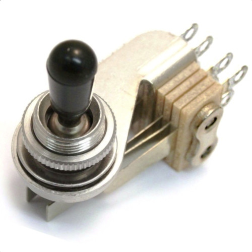 Switchcraft Right Angle DPDT Toggle Switch for 3-Pickup Guitars