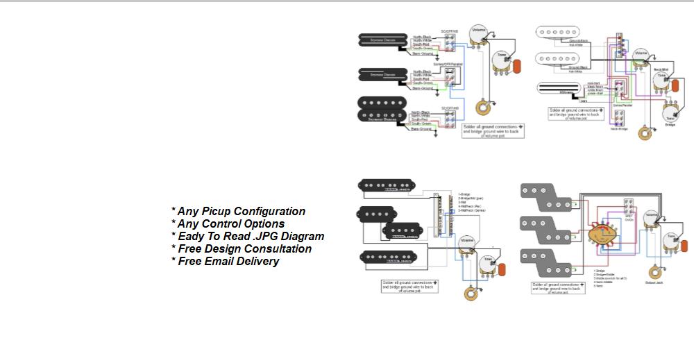 guitar electronics parts \u0026 wiring diagrams Free Download Dual Humbucker Wiring Diagram