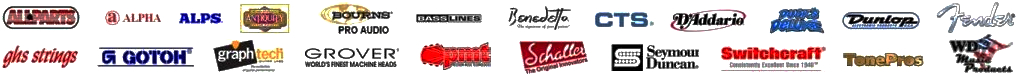 Guitar Parts & Accessories Brands - Authorized Sales