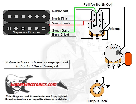 1 Humbucker/1 Volume/1Tone/Pull for North Single Coil on humbucker strat schematics, humbucker wiring options, humbucker wiring colors, humbucker wiring 2 tone 1 volume, 2 humbucker wiring diagrams, humbucker wiring no green, guitar push pull pots diagrams, humbucker wiring-diagram af55 art, humbucker picker, steel guitar volume tone control diagrams, humbucker wiring-diagram wires attached to 4, vintage mini humbucker wiring diagrams, humbucker wiring diagram schematic, humbucker wiring-diagram 400 art, humbucker pickups, humbucker wiring-diagram dean,