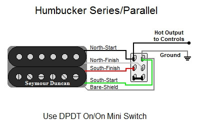 dpdt toggle switch diagram humbucker series parallel  humbucker series parallel