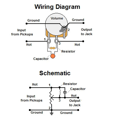 volume treble bleed bypass circuit w parallel resistor wiring heaters in parallel wiring capacitors in parallel #10