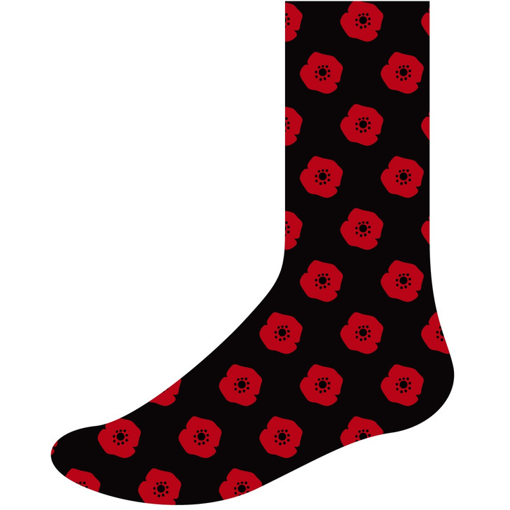 Poppy Recollections Business Socks