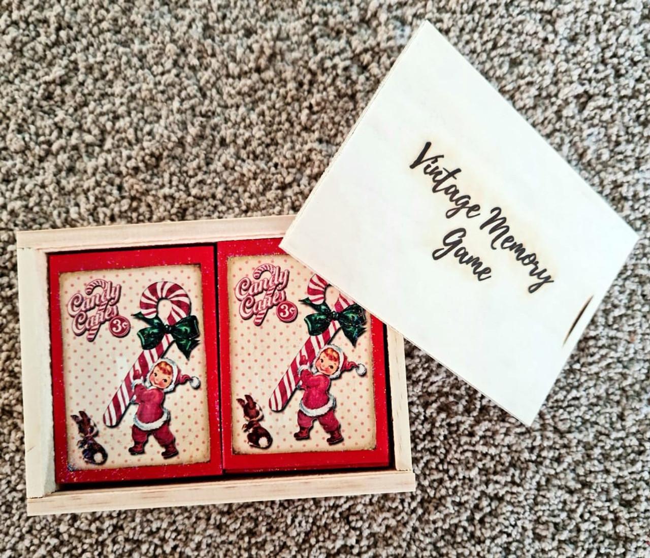 Vintage Wooden Memory Card Game