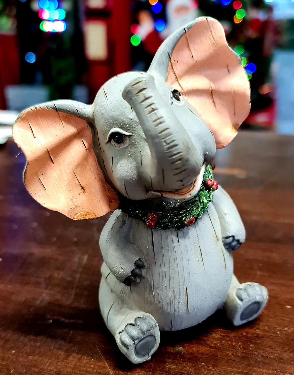 Safari Christmas Figurine - Elephant 13cm
