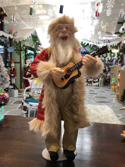 Handcrafted in Te Puke - Singing Santa w Guitar