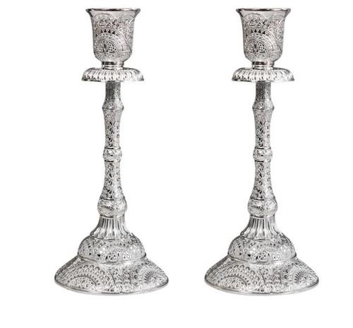 Stylish Silver Metal Candlestick