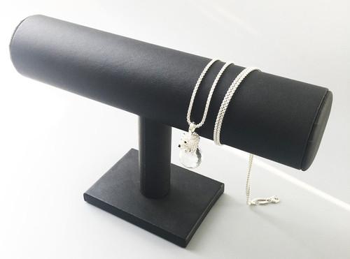 925 Sterling Silver Polar Bear & Snake Chain