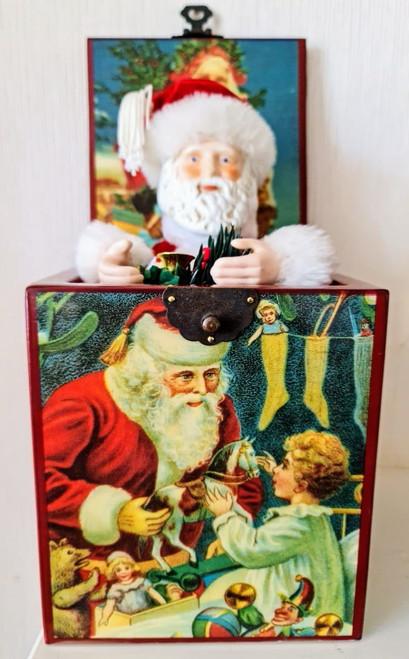 Vintage Santa-in-the-box