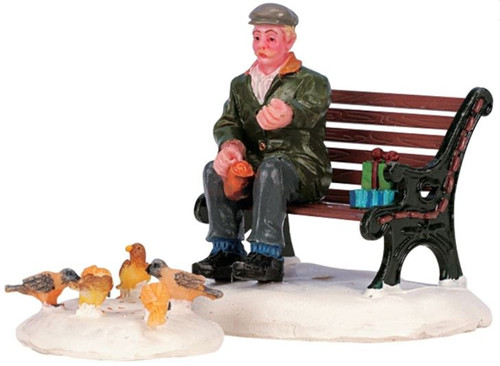 Feeding Pigeons, Set of 2