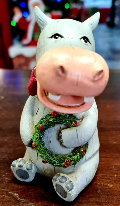 Safari Christmas Figurine - Hippo 12.5cm