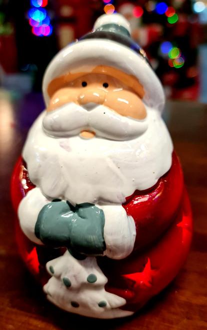Light Up Santa Stars 13cm