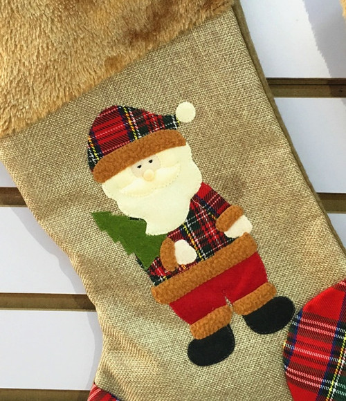 Fur Trim Stockings