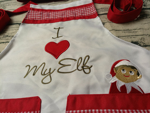 3 to 6 year Child's Elf Apron/Chef's Hat