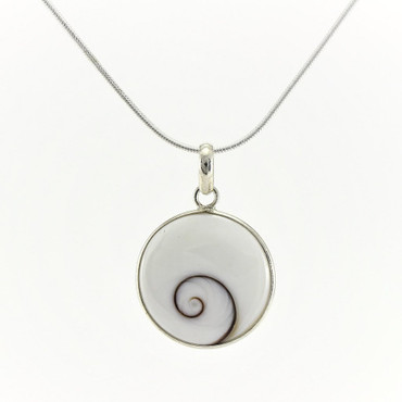 Shiva's Eye Sterling Silver Pendant Necklace