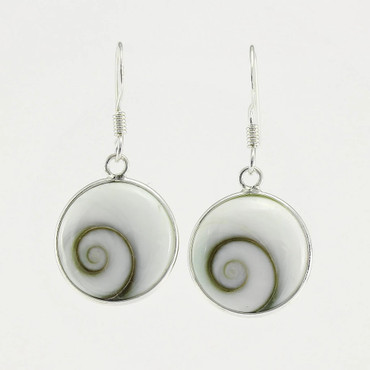 Shiva's Eye Sterling Silver Earrings