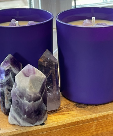 Amethyst Crown Chakra Candle