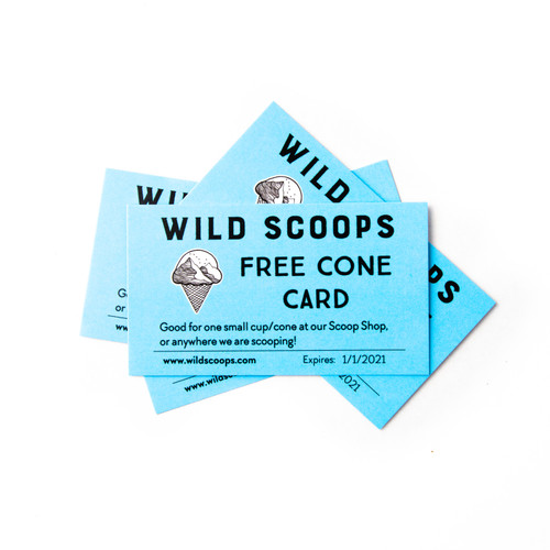 4 Pack of Cone Cards