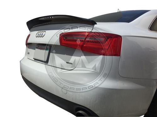 2012-2018 Audi A6 S6 (C7) Carbon Fiber Ducktail Trunk Spoiler