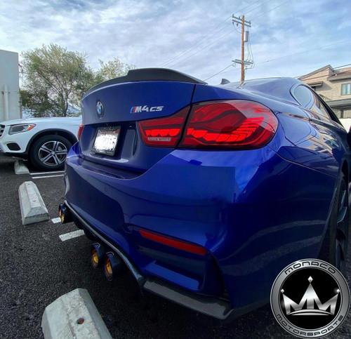 BMW M2, M3, M4, M5, & M6 (F87, F80, F82, F10, F12) Titanium/Carbon Fiber M Performance Exhaust Tips (4pcs)