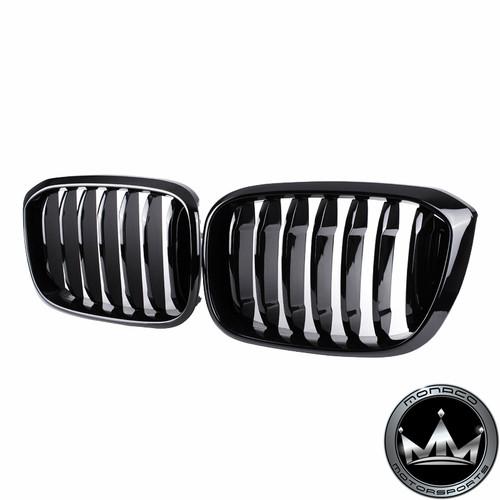 BMW X3 & X4 M (G01 G02 F97 F98) Single Slat Grilles (Gloss Black/Tri-Color/Carbon Fiber)