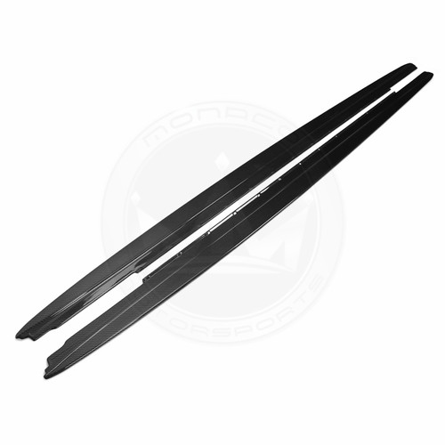 BMW F90 M5 Carbon Fiber M Performance Style Side Skirt Add-on Lip Extensions